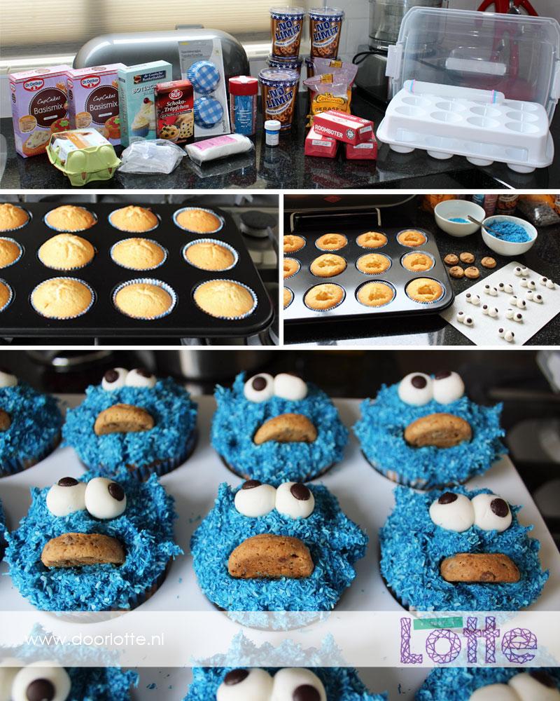 Koekiemonster cupcakes doorlotte.nl