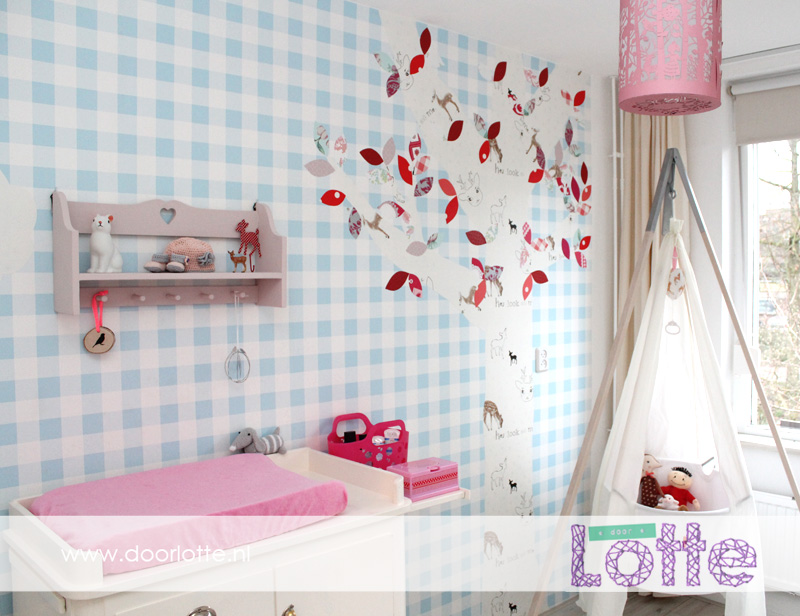 Babykamer Behang Roze : Hoera, onze dochter Juul is geboren! - door ...