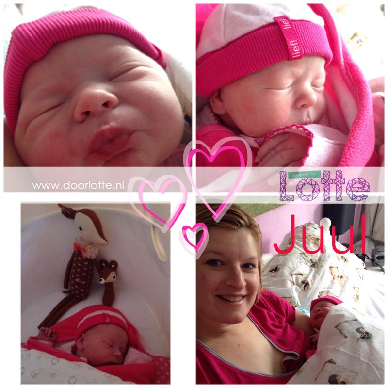doorlotte fotocollage geboorte Juul