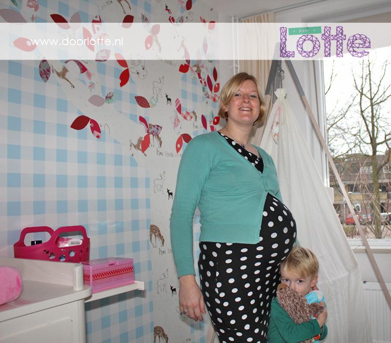 doorlotte zwangerschapsfoto Lotte met Gijs